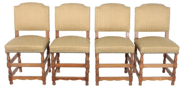French Dining Chairs, Set of 4