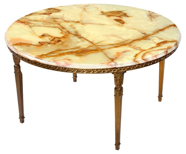 French Onyx-Top  Table