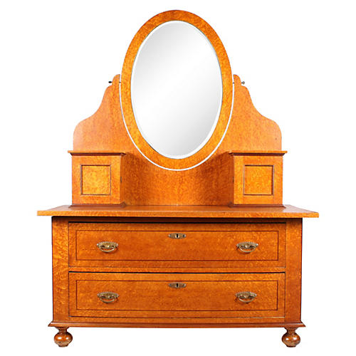 Swedish Karelian Birch Dressing Table