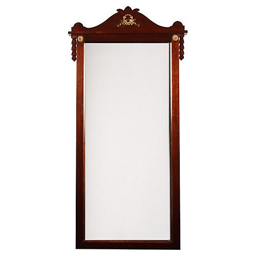 1940s Regency-Style Mahogany Mirror