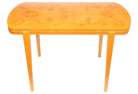 Swedish Art Deco-Style Burl-Ash Table