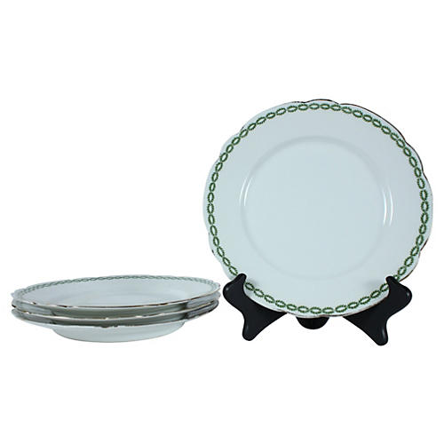 French Limoges Dinner Plates, S/4