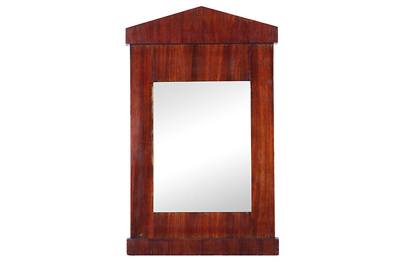 1940s Mahogany Architectural Mirror