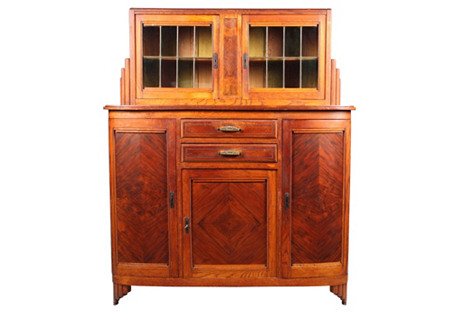 Art Deco Walnut Liquor Cabinet