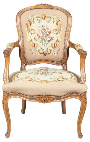 Louis xvi style fauteuil chair desk chairs office furniture one kings lane