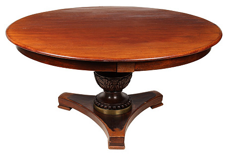 19th-C. English Walnut Table