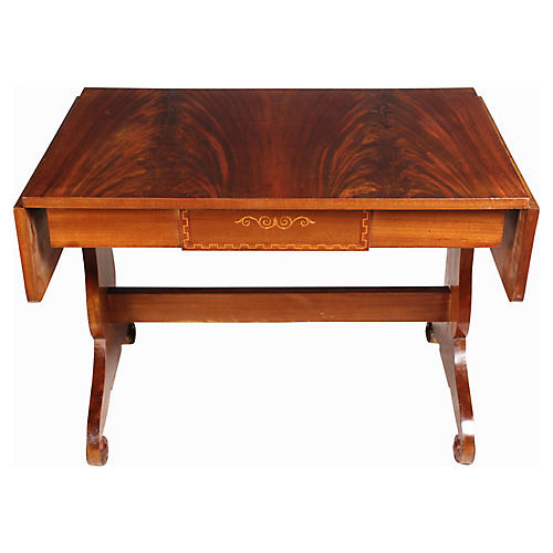 1930s Regency-Style Library Table