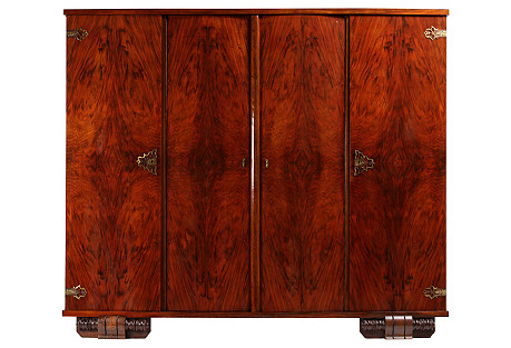 1920s French Art Deco Wardrobe