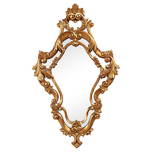 French Venetian Rococo-Style Mirror
