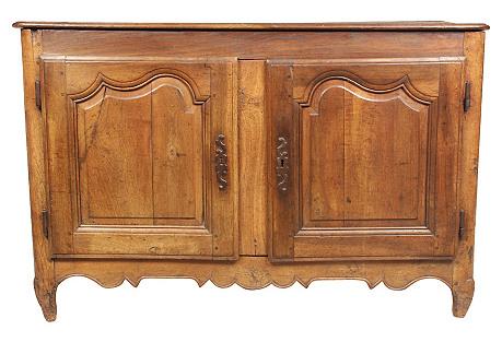 19th-C. Louis XV-Style Walnut Cabinet