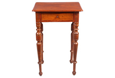 19th-C. American Federal Work Table