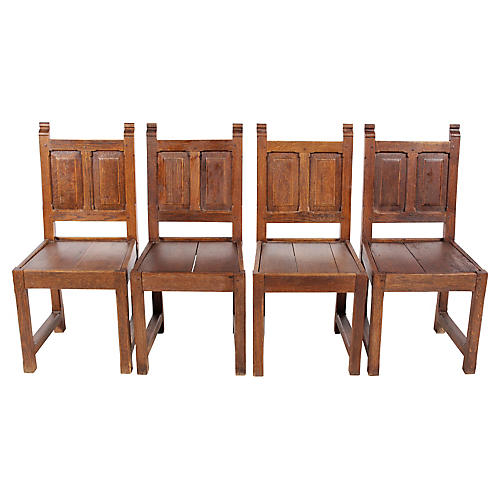 1920s Elizabethan-Style Chairs, S/4