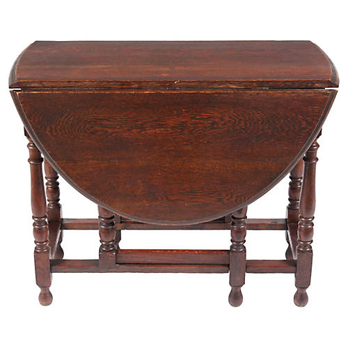 1920s William & Mary Gate-Leg Table