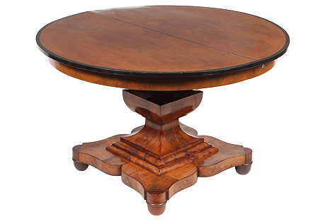 19th C. English Empire-Sty Dining Table