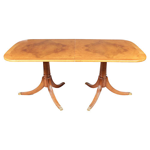 Duncan Phyfe-Style Maple Dining Table