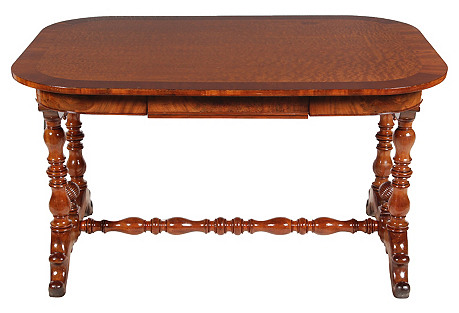 19th-C. Dutch William III Library Desk