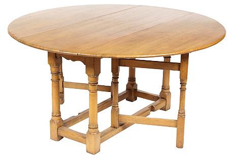 1920s Jacobean-Style Gate-Leg Table