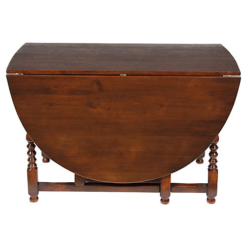 1920s English Jacobean Gateleg Table