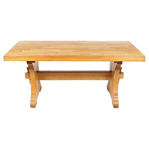 Monastery-Style Trestle Dining Table