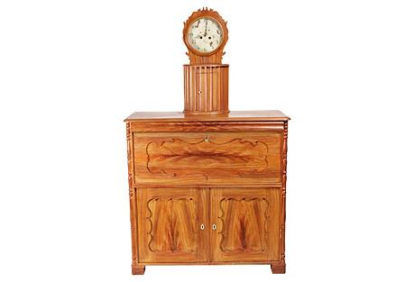 Specialty Belgian Clock & Case, C. 1910
