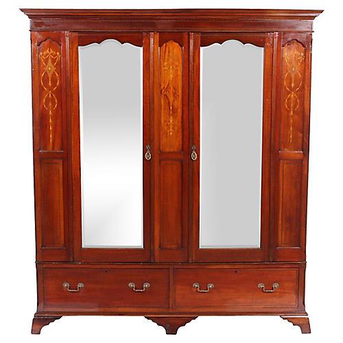 Art Nouveau English Armoire