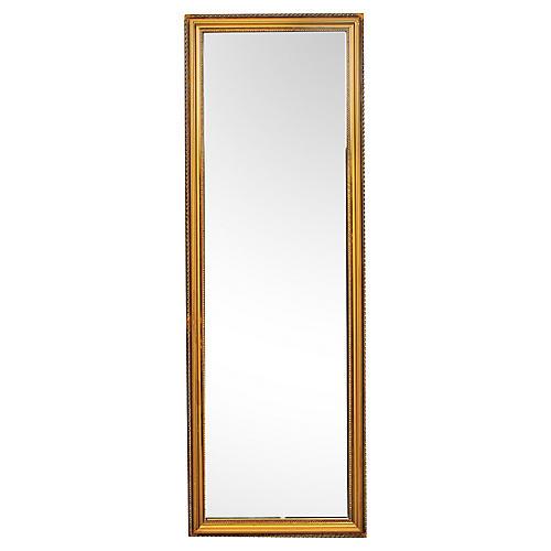 Vintage Long Gold Dressing Mirror