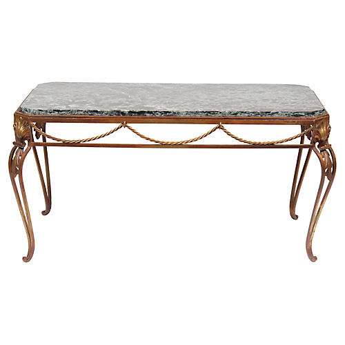 Vintage Italian-Style Gold Coffee Table