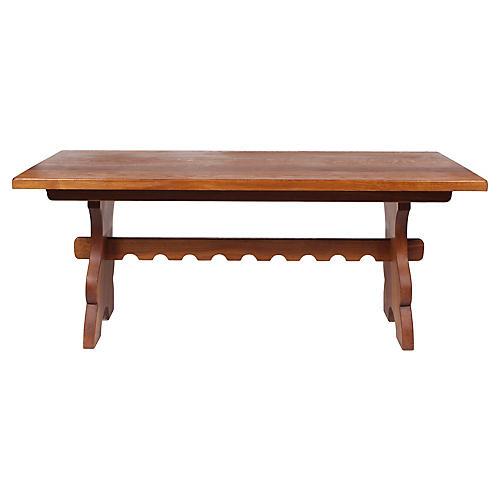 Mid-C. Belgian Slab Oak Refectory Table