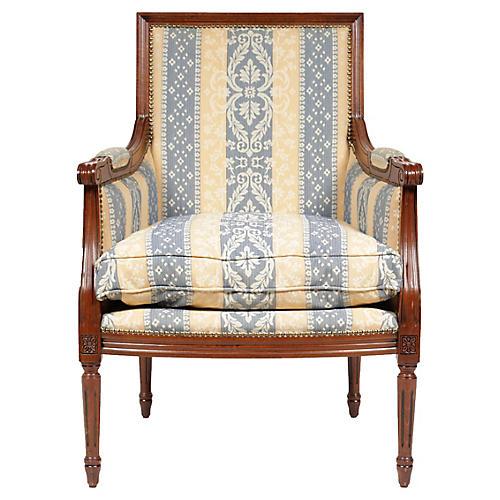 Vintage Louis XVI Bergere Armchair