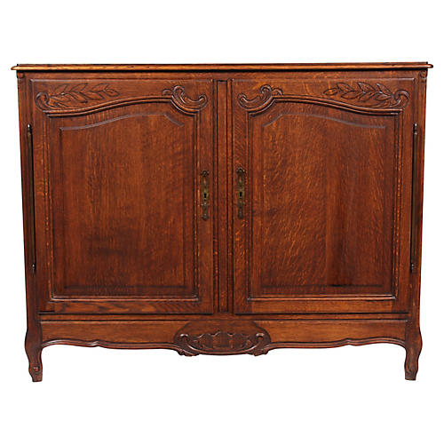 Vintage Louis XV-Style Oak Buffet
