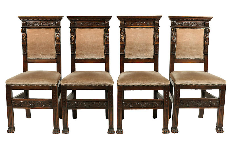 1890s Italian Renaissance-Style Chairs