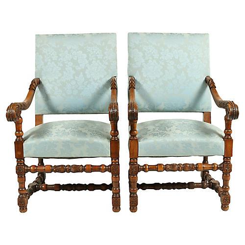 1880s Dutch Renaissance-Style Chairs