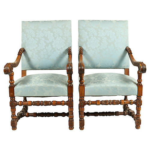 1880s Dutch Renaissance-Style Chairs