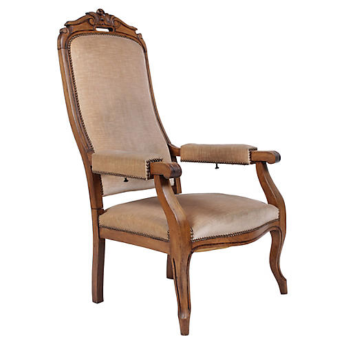 19th-Century French Voltaire Recliner