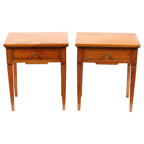 1920s Regency-Style Side Tables, Pair