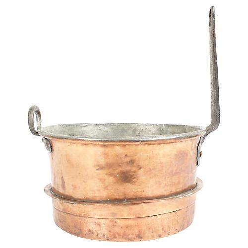 Antique Swedish Copper Double Boiler