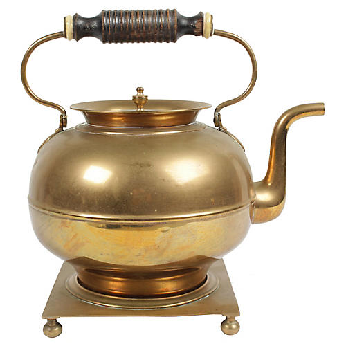 Vintage Swedish Brass Kettle
