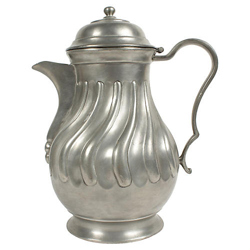 Vintage Belgian Pewter Pitcher