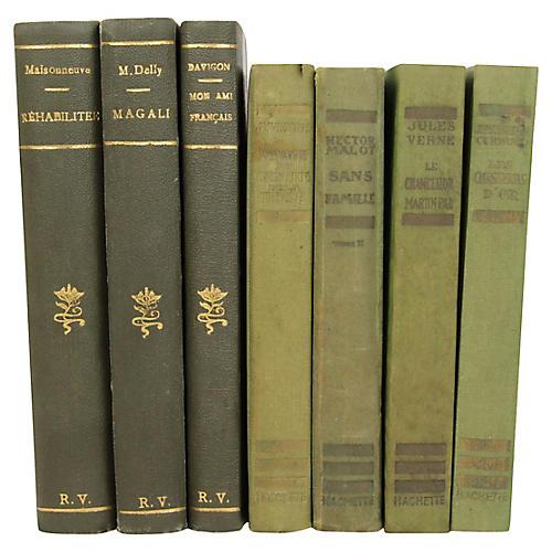 French Art Deco Books, S/7