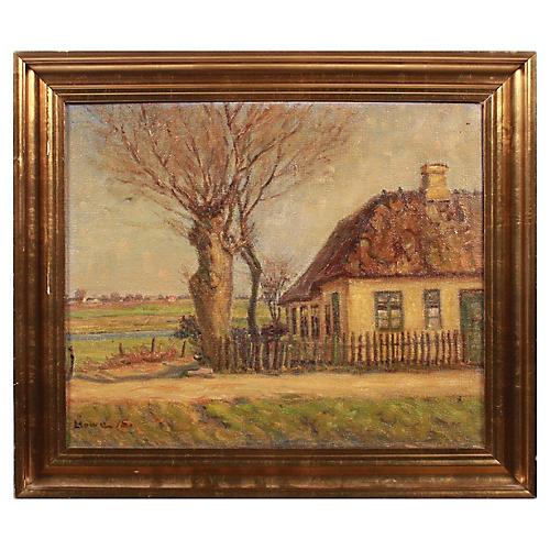 1915 Lauritz Howe Country Scene