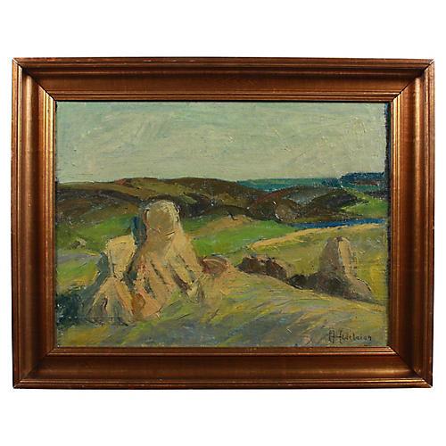 Rocky Landscape by Carl Peter Hedelaian