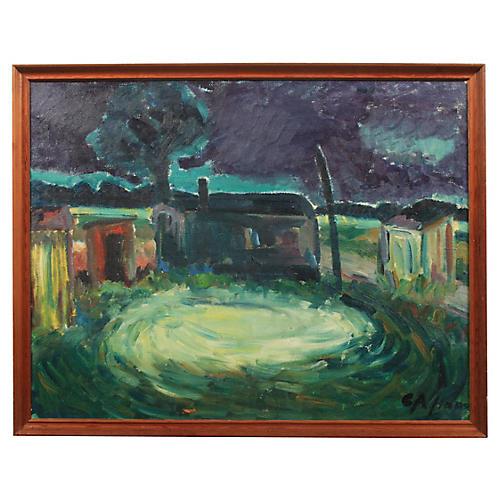 Rural Expressionist Night Scene