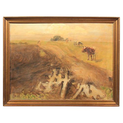 Post-Impressionist Pastoral Scene