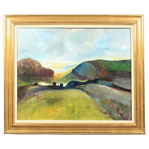 1963 Jørgen Waring Abstract Landscape
