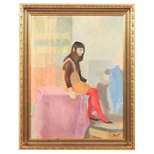 Abstract Composition of Seated Woman