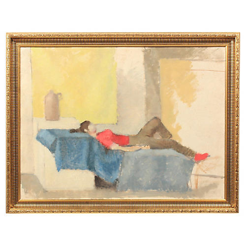 Abstract Composition of Reclined Woman