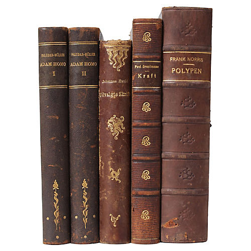 Art Nouveau Leather Bound Books S 5