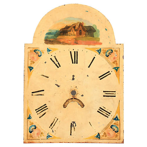 19th-C. English Clock by George Claridge