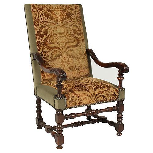 1890s Renaissance Revival-Style Armchair