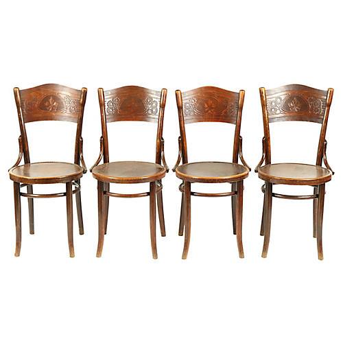 Art Nouveau Thonet Bistro Chairs/4